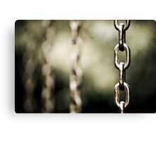 chains can be curtains Canvas Print