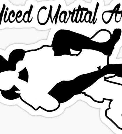 Mixed Martial Arts Rear Naked Choke Black  Sticker