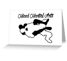 Mixed Martial Arts Rear Naked Choke Black  Greeting Card