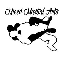 Mixed Martial Arts Rear Naked Choke Black  Photographic Print