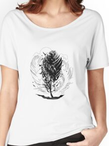 Stormy inked days flying birds and element wind Women's Relaxed Fit T-Shirt