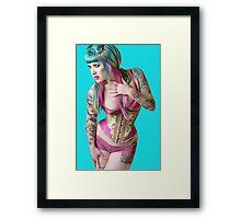 Blueberry Bubblegum: Framed Print