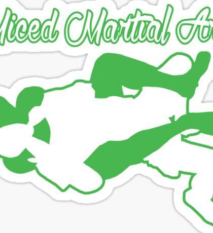 Mixed Martial Arts Rear Naked Choke Green  Sticker