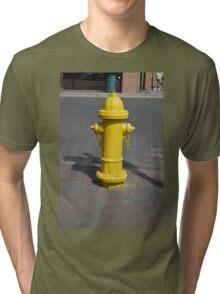 Yellow Fire Hydrant by Santa Fe Plaza Tri-blend T-Shirt