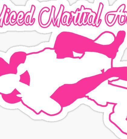 Mixed Martial Arts Rear Naked Choke Pink  Sticker