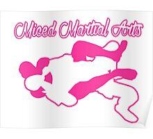 Mixed Martial Arts Rear Naked Choke Pink  Poster