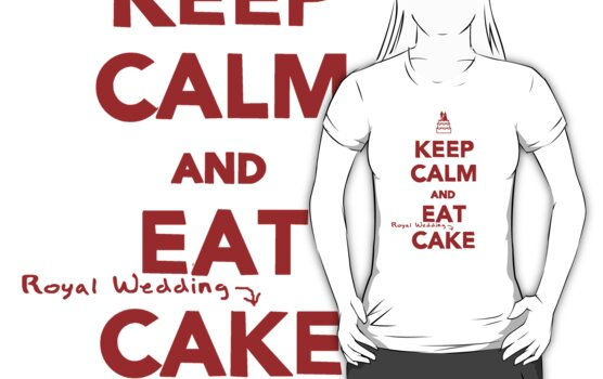 Keep Calm and Eat [Royal Wedding] Cake | Red by babibell