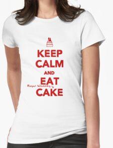Keep Calm and Eat [Royal Wedding] Cake   Red T-Shirt