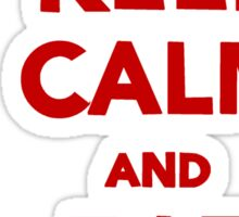 Keep Calm and Eat [Royal Wedding] Cake | Red Sticker