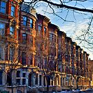 Sugar Hill Brownstones by Dave Bledsoe