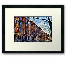 Sugar Hill Brownstones Framed Print