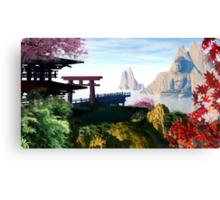 Sunrise on Japan Canvas Print