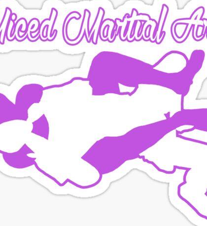 Mixed Martial Arts Rear Naked Choke Purple  Sticker
