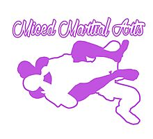 Mixed Martial Arts Rear Naked Choke Purple  Photographic Print