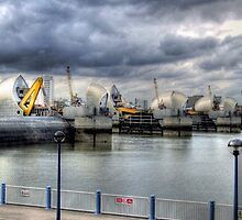 At Work - Thames Barrier by Victoria limerick
