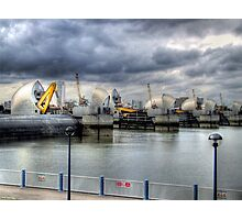 At Work - Thames Barrier Photographic Print
