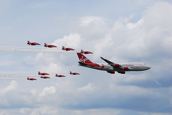 Virgin 747 & Red Arrows - 25 years 1 by jabisfab