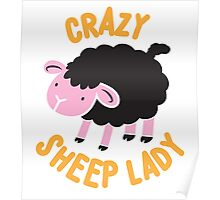 Crazy Sheep Lady (with black sheep) Poster