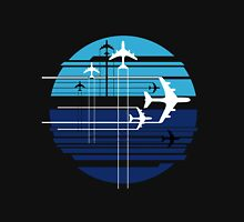 Geometric sky crossing airplanes Unisex T-Shirt
