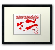 Mixed Martial Arts Rear Naked Choke Red  Framed Print