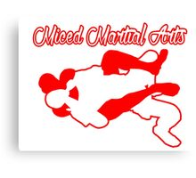 Mixed Martial Arts Rear Naked Choke Red  Canvas Print