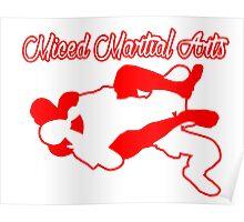 Mixed Martial Arts Rear Naked Choke Red  Poster