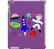 Cute Kids Outer Space Themed Design iPad Case/Skin