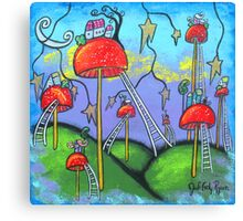 Mushroomland-Acrylic Canvas Print