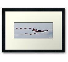 Virgin Atlantic 747 and Red Arrows Framed Print