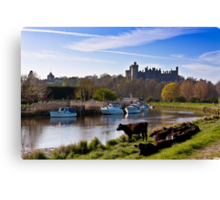 Arundel Castle From The River Canvas Print