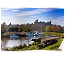 Arundel Castle From The River Poster
