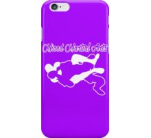 Mixed Martial Arts Rear Naked Choke White  iPhone Case/Skin