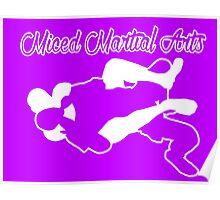 Mixed Martial Arts Rear Naked Choke White  Poster