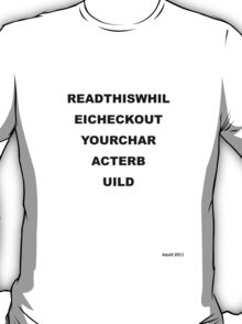 Eye Test - Light T's T-Shirt