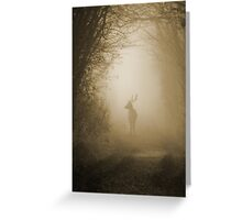 Stag in the Mist  Greeting Card