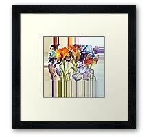 Irises in flower show Framed Print
