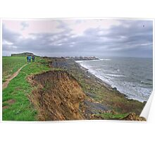 A walk on the cliffs to Audresselles Poster