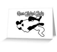 Rear Naked Choke Mixed Martial Arts Black  Greeting Card