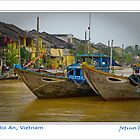 Hoi An, Vietnam - river and boats - Poster art by fotinos