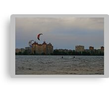 The hunter behind clouds Canvas Print