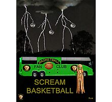 Scream Basketball Photographic Print