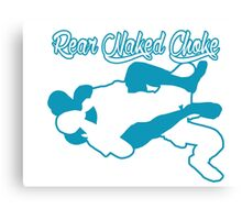 Rear Naked Choke Mixed Martial Arts Blue  Canvas Print