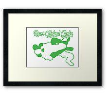 Rear Naked Choke Mixed Martial Arts Green  Framed Print