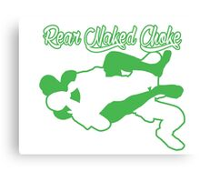 Rear Naked Choke Mixed Martial Arts Green  Canvas Print