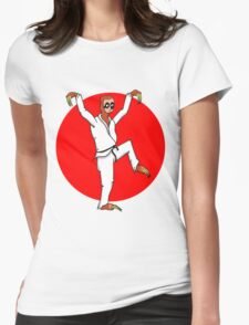 Karate Sloth Womens Fitted T-Shirt