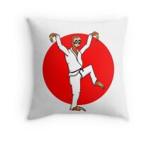 Karate Sloth Throw Pillow