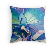 Stunning Purple Orchid Throw Pillow