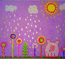 """""""Lucky Pig? Oink Yeah!"""" by Alexandra Komarovskaia"""