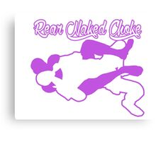 Rear Naked Choke Mixed Martial Arts Purple  Canvas Print