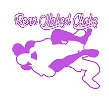 Rear Naked Choke Mixed Martial Arts Purple  Photographic Print